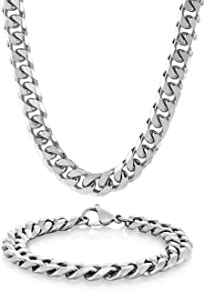 Crucible Men's Stainless Steel Curb Chain Bracelet 8.5