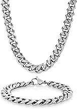 West Coast Jewelry Men's Stainless Steel Curb Chain Bracelet 8.5