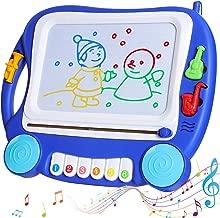 SGILE Pizarra Magnética Infantil, Actualizado Juguete de Tambor Musical, Tablero de Garabato Musical Multifuncional, Niños