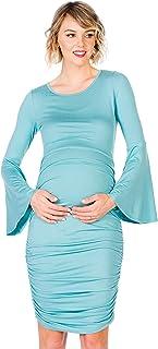 My Bump - Vestido de Maternidad, con Mangas Ajustadas, Color Negro, Mint SD, S