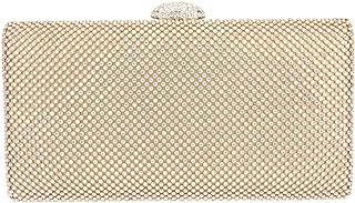 Fawziya Velvet Clutch Rhinestone Envelope Evening Purse