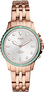 Fossil Women's FB-01 Stainless Steel Hybrid Smartwatch with Activity Tracking and Smartphone Notifications