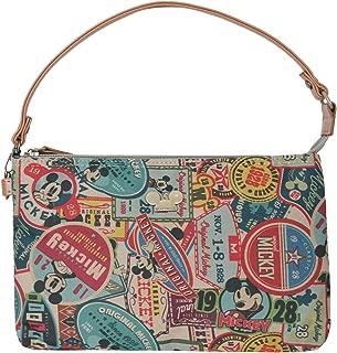 X Disney Vintage Style Pattern Purse Mickey Mouse Pouch Bag