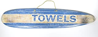 Hand Carved Towels Surfboard Towels Beach Surfboard Wooden Wall Hanging Art Sign Tiki Bar