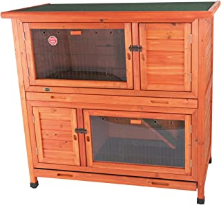 TRIXIE Pet Products 2-in-1 Rabbit Hutch with Insulation, 45.5 x 25.5 x 44.25 inches