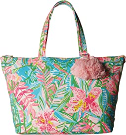 Palm Beach Zip-Up Tote Bag