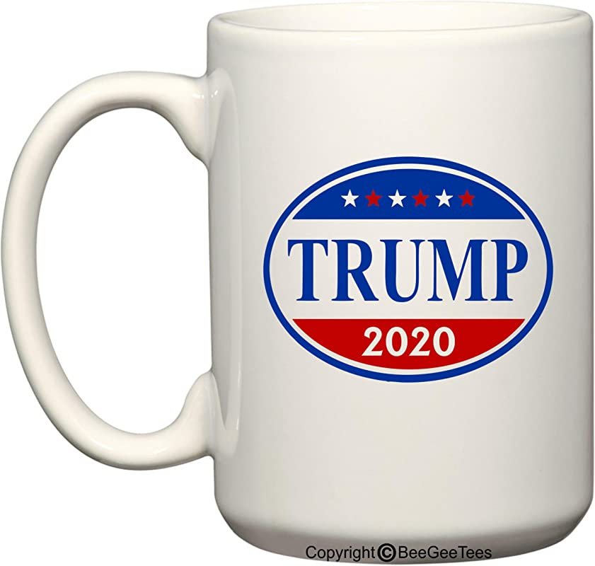 Donald Trump 2016 And 2020 Presidential Coffee Mug Office Tea Cup By BeeGeeTees 15 Oz 2020 White 2020