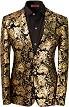 mens gold blazer