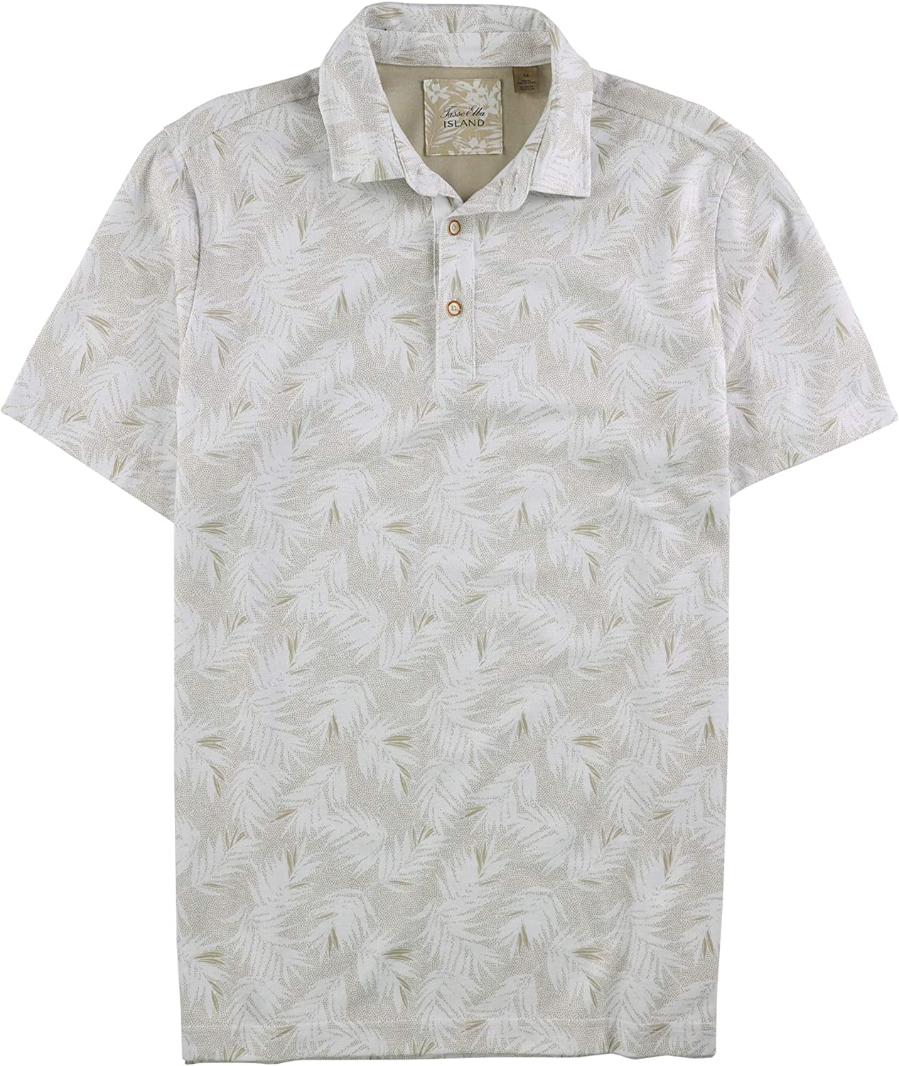 Tasso Elba Year-end gift Mens Leaf Polo Popular overseas Shirt Rugby Dot