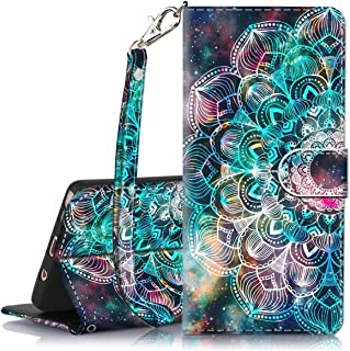 Galaxy Note 9 Case, Hocase PU Leather Full Body Protective Case with Credit Card Holders, Wrist Strap, Magnetic Closure for Samsung Galaxy Note 9 (2018) SM-N960 - Mandala in Galaxy