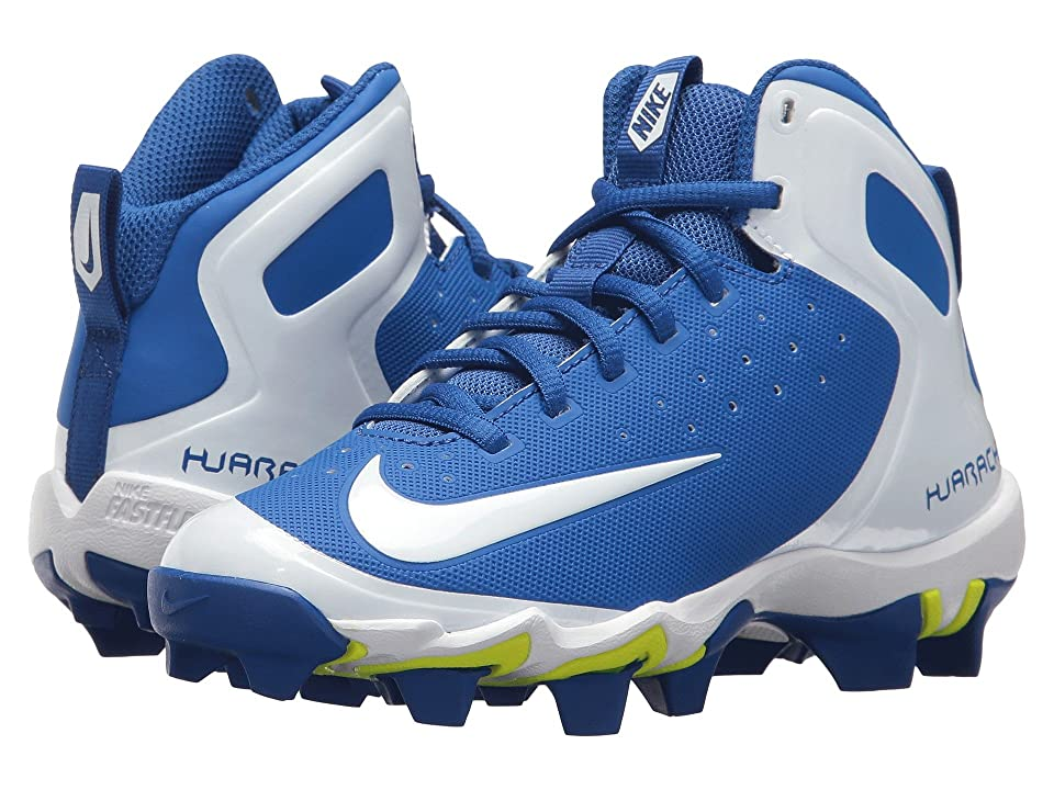 Nike Kids Alpha Huarache Keystone Mid BG (Toddler/Little Kid/Big Kid) (Game Royal/White/White/Photo Blue) Kids Shoes