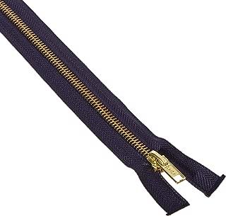 Coats & Clark F25 20-13 Heavyweight Brass Separating Metal Zipper, 20