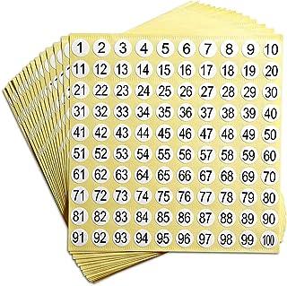 PPX Étiquettes Chiffres, Étiquettes Autocollantes Numérotées de 1 à 300 Nombre d'Étiquettes Adhésifs Rond Stockage d'Inven...