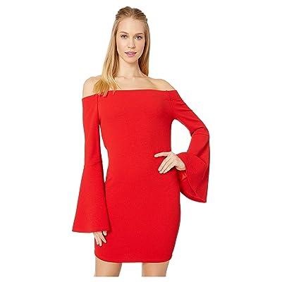 BCBGeneration Off Shoulder Bodycon Dress (Cardinal Feat) Women
