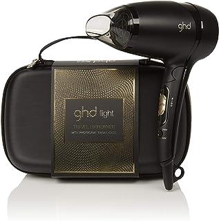 ghd flight gift set -  Secador de viaje potente de diseño plegable con funda rígida protectora y voltaje universal. Boquilla extraíble y dos niveles de potencia. Temperatura de secado 65ºC
