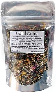 Reiki Charged 7 Chakra Balancing Tea Wildcrafted Loose Leaf Dried Herbs Shaman Lucid Dreaming Sleep Calming Relaxing 0.5 oz bag Small Sample Tea