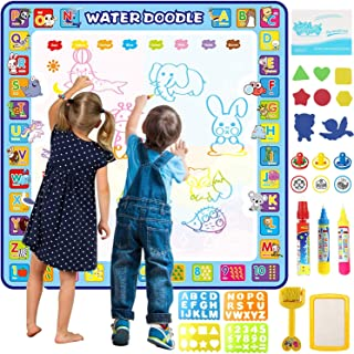 Tobeape 100 X 100 cm Extra Large Aqua Magic Doodle Mat, Colorful Educational Water Drawing Doodling Mat Coloring Mat for K...