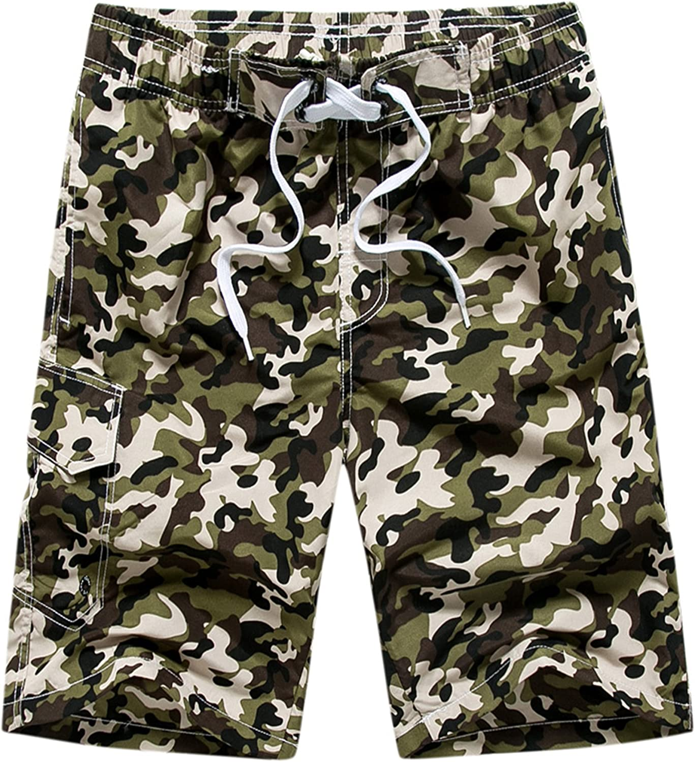 9e94371d2b MACHLAB Men's Camouflage Camouflage Camouflage Printing Quick Dry Beach Board  Shorts Swim Trunks c4be63
