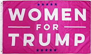 Lysti Donald Trump Flag 3x5 Women for Trump USA Authentic Large Hot Pink Make America Great Again Polyester US President Flag