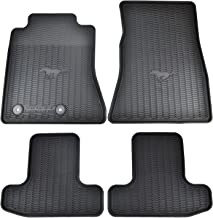 Ford OEM Factory Stock 2015 2016 Black Mustang Pony Horse All Weather Vinyl Floor Mats Front & Rear