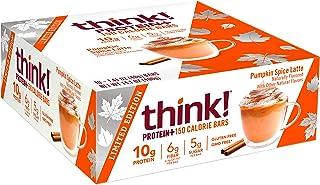 think! Protein+ 150 Calorie Bars pumpkin Spice Limited Edition, g Protein, 5g Sugar, No Artificial Sweeteners, Gluten GMO ...