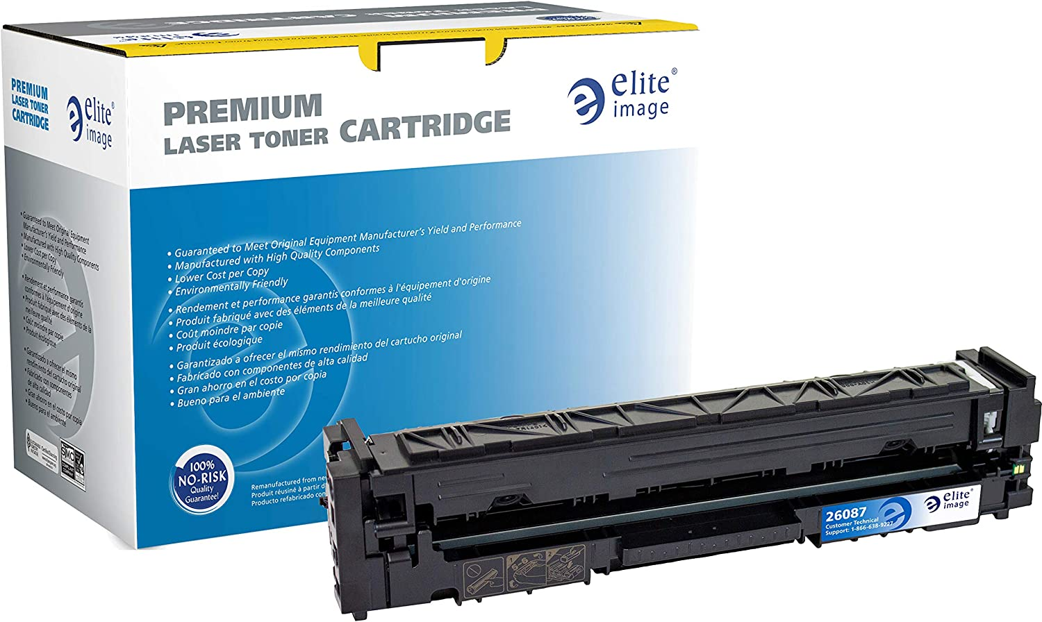 Elite Image Special Campaign Toner Cartridge - Free shipping anywhere in the nation 202A HP Cyan for Alternative