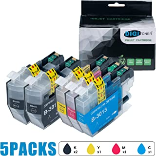 DIGITONER Compatible Ink Cartridge Replacement for Brother LC3013 LC-3013 LC 3013 ink Cartridges Brother MFC-J491DW MFC-J497DW MFC-J690DW MFC-J895DW Printer [2 Black 1 Cyan 1 Magenta 1 Yellow, 5 Pack]