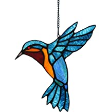 Alivagar Stained Glass Bird Window Hangings SunCatcher, 9