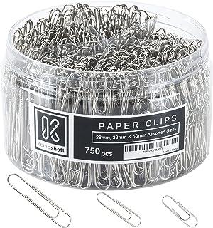 کلیپ های کاغذ صاف Kempshott 750 - اندازه های کوچک ، متوسط