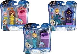 Disney Frozen Little Kingdom Play-Sets   Anna and Elsa Frozen 2 Toys Bundle   Frozen Dolls Cake Toppers