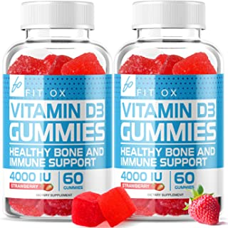 Vitamin D3 Gummies with Zinc Echinacea Supplements 4000 IU, Chewable Vitamin D for Adults Kids - VIT D Immune Booster, Bone Health, Joint Muscle Support -Tablet Powder Alternative Vegan (2 Pack)