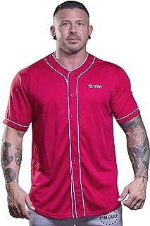 Men's Baseball Button Down Jersey Hipster Hip Hop T Shirts