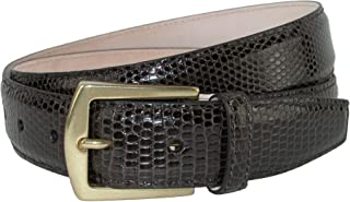 CrookhornDavis Men's Tejus Lizard 32mm Belt