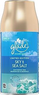 Glade Brise Lot de 4 recharges de spray automatique pour désodorisant, sel Sky & Sea Sel (4 x 269 ml)