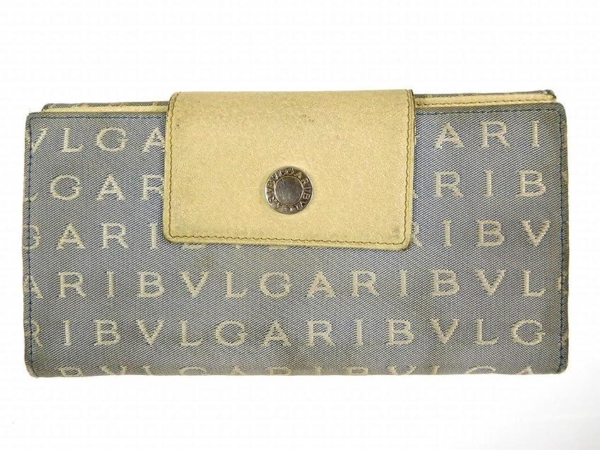 資源負研磨剤[ブルガリ] BVLGARI 長財布 ロゴマニア キャンバス×レザー X12944 中古