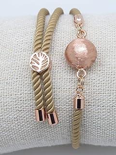 Bracelet Bola de Grossesse Couleur Or Rose Brossé Arbre de vie Cadeau Future Maman de Grossesse F de Bm créations