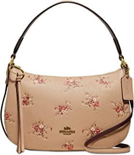 Women's Floral Print Leather Sutton Crossbody