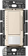 Lutron Maestro LED Dimmer switch with motion sensor, no neutral required, MSCL-OP153M-LA, Light Almond