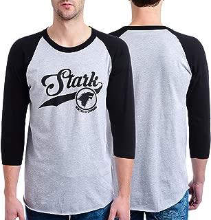 HBO Game Of Thrones Men's Stark Raglan Heather Gray T-Shirt