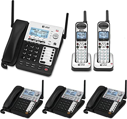 1758741a0dc AT T SynJ 4-Line Corded Cordless Business Phone System with 3 Cordless  Desksets