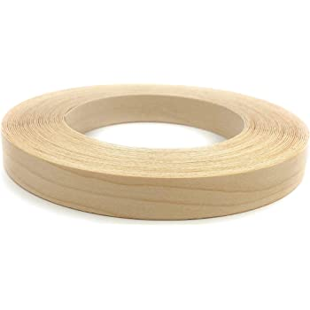 Made in USA. Edge Supply Maple 1 x 250 Roll Preglued Easy Application Wood Edging Flexible Wood Tape Sanded to Perfection Wood Veneer Edge Banding Iron on with Hot Melt Adhesive