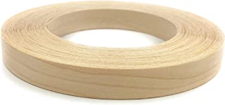 """Edge Supply Maple 2"""" X 25' Roll of Plywood Edge Banding – Pre-glued Real Wood Veneer Edging – Flexible Veneer Edging – Easy Application Iron-on Edge Banding for Furniture Restoration – Made in USA"""