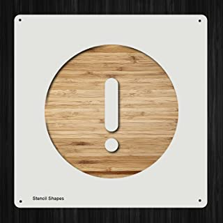 Exclamation Point Alert Notification Exclamation Error Plastic Mylar Stencil for Painting, Walls and Crafts, Item 792591