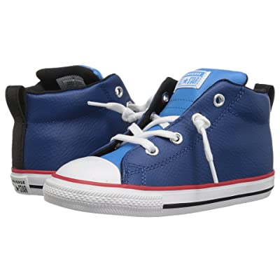 Converse Kids Chuck Taylor(r) All Star(r) Street Mid (Infant/Toddler) (Court Blue/Blue Hero/White) Boy