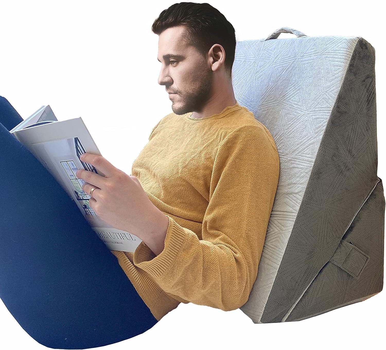 Vriksasana Bed Wedge Pillow with Memory Regular dealer Jacquard Foam Co Regular store Top and