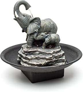 Relaxus Decor Desk Elephant Watering Hole Fountain - Water Fountain