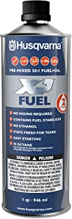 Husqvarna 585572601 Pre-Mixed 2-Stroke Fuel and Oil for Engines, 1-Quart, 1-Pack