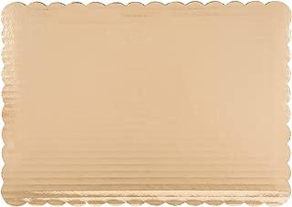 Gold Cake Board - Scalloped Edge Rectangle Quarter Sheet 14