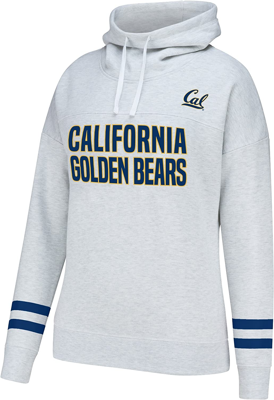 J America NCAA Womens Courtside Poly Fleece 1//2 Zip Sweater