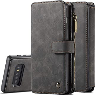 Galaxy S10 Case XRPow S10 Detachable Magnetic Leather Wallet Folio Flip Card Slot Case with Removable Slim Back Cover for Samsung Galaxy S10 (Black)